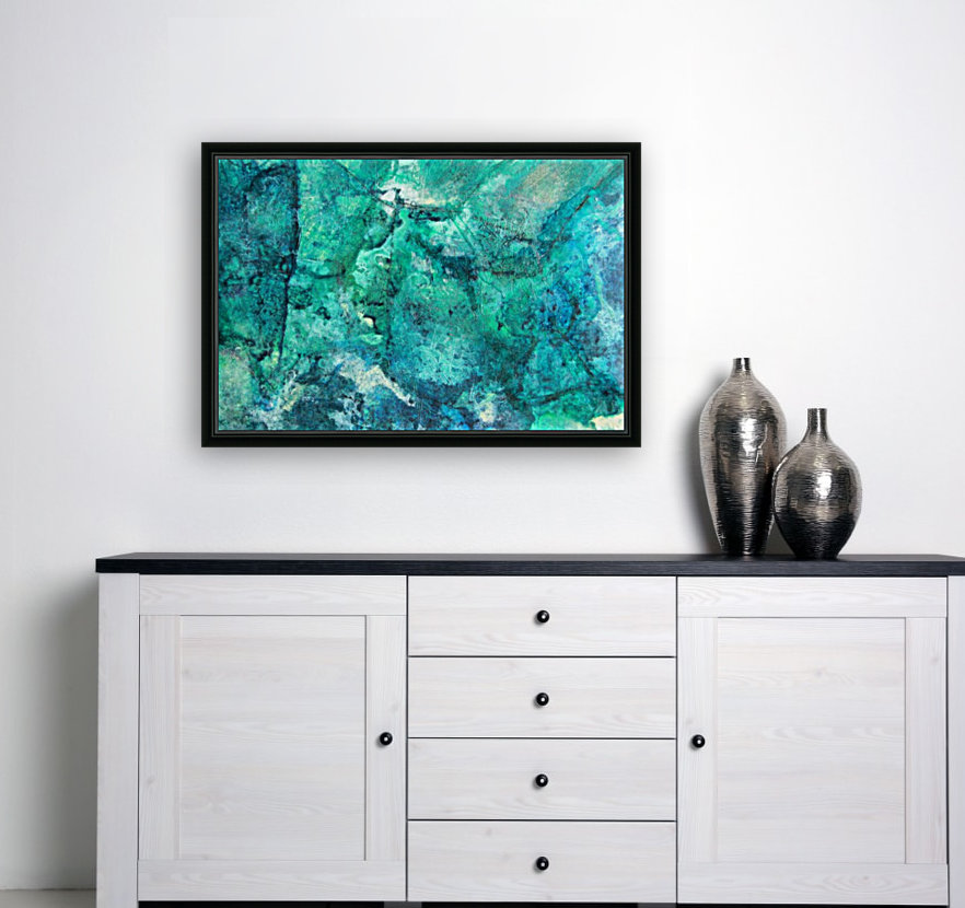 turquoise N°2 with Floating Frame