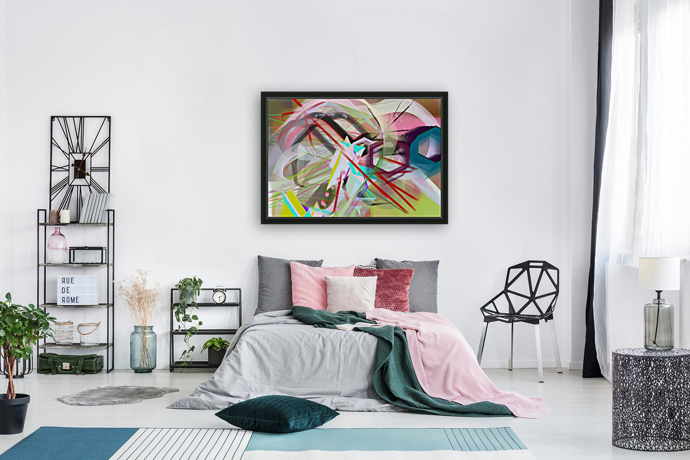 New Popular Beautiful Patterns Cool Design Best Abstract Art (2) with Floating Frame