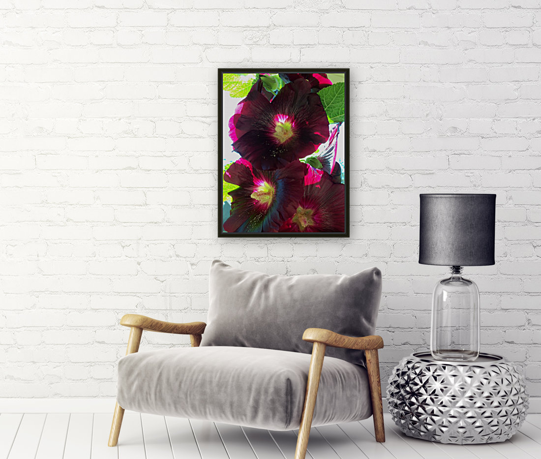 Flower with Floating Frame