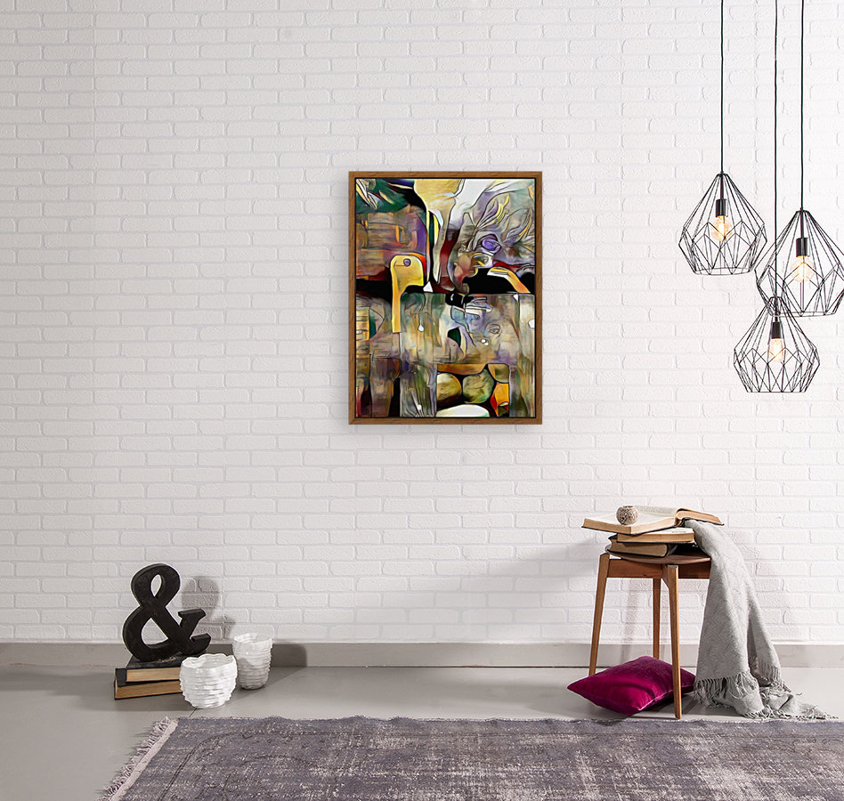 Modern Abstract with Floating Frame