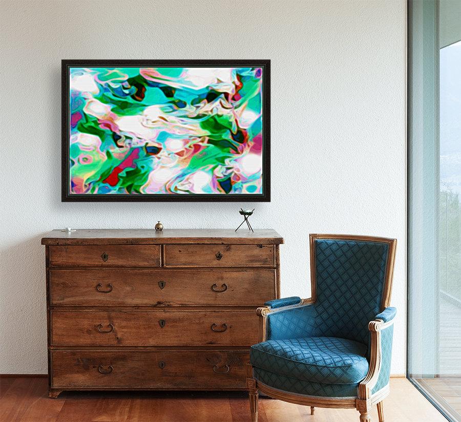 Waterfall - multicolor abstract swirl wall art  Art