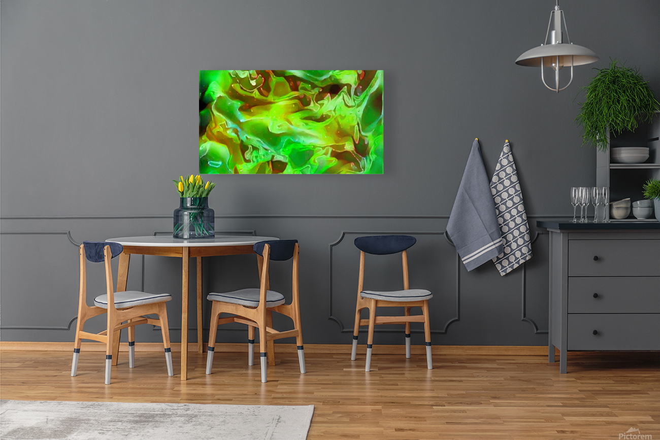 Emerald Field - green brown gold abstract swirls  Art