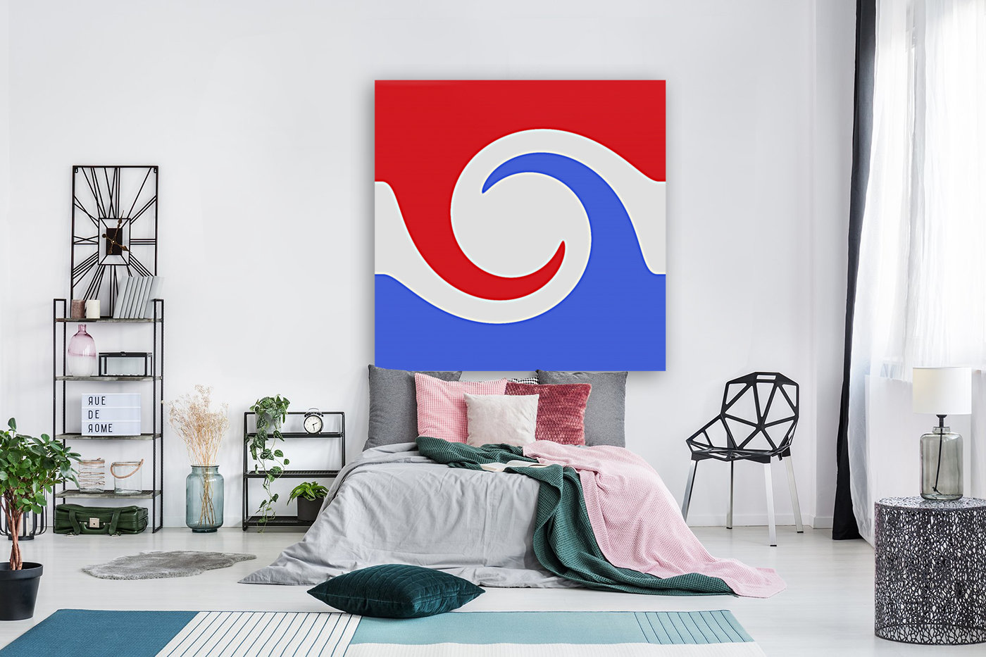 This is a beautiful design with great color, shape, line, texture, space and value.  (2)  Art