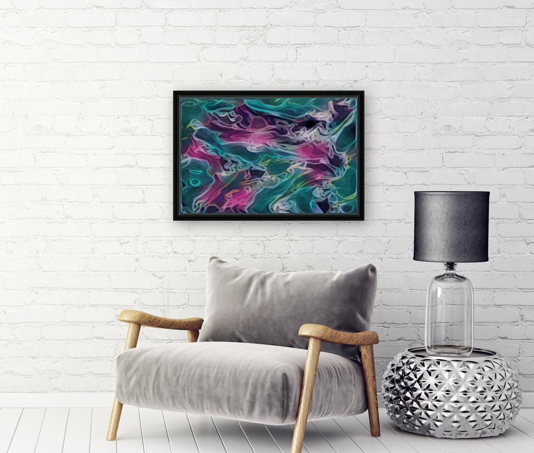 Feminine Waters - turquoise pink purple swirls  Art