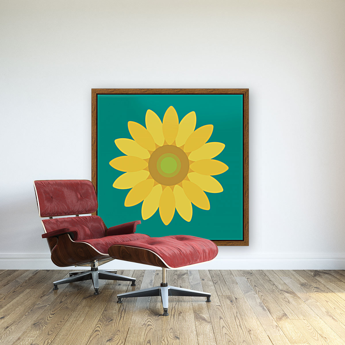 Sunflower (15)_1559876665.7687 with Floating Frame