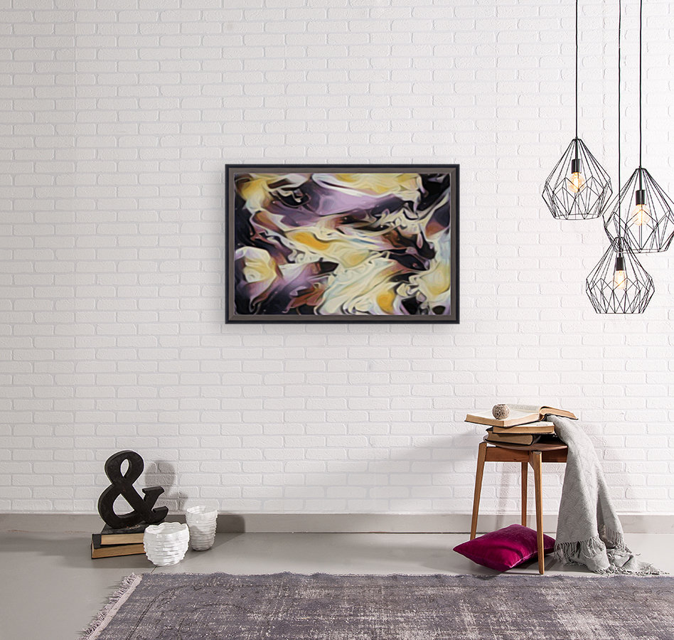 Cosmic - multicolored abstract swirl wall art  Art
