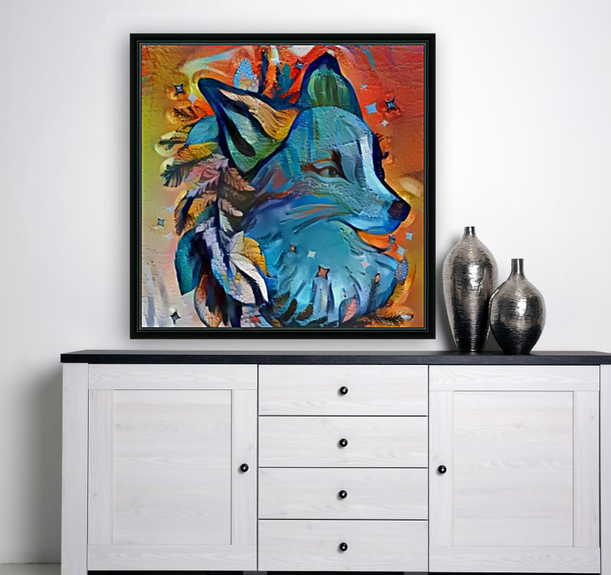 The Blue Wolf  Art