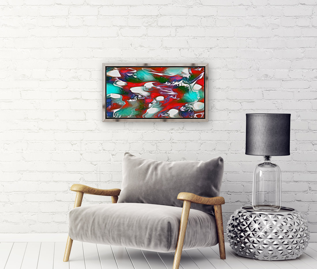 Cherries Limes & Blueberries - multicolor swirls and spots abstract wall art  Art