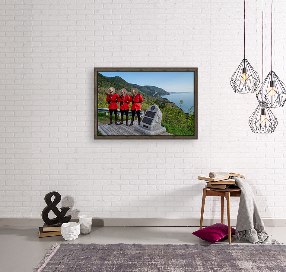 Respect and Honour - RCMP on French Mountain  Art
