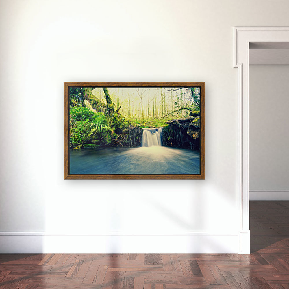 waterfall river nature forest   Art