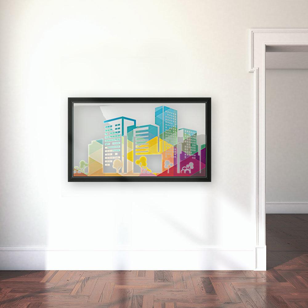 silhouette cityscape building icon color city  Art