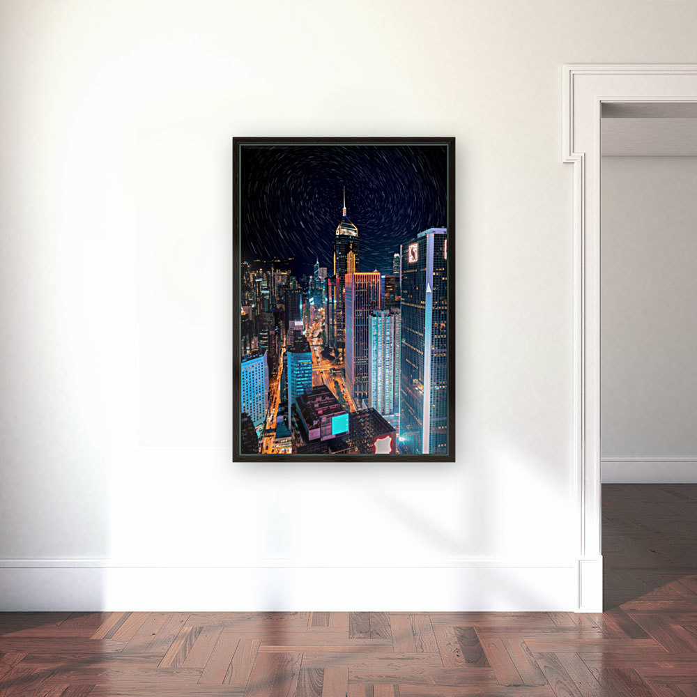high rise buildings with lights  Art