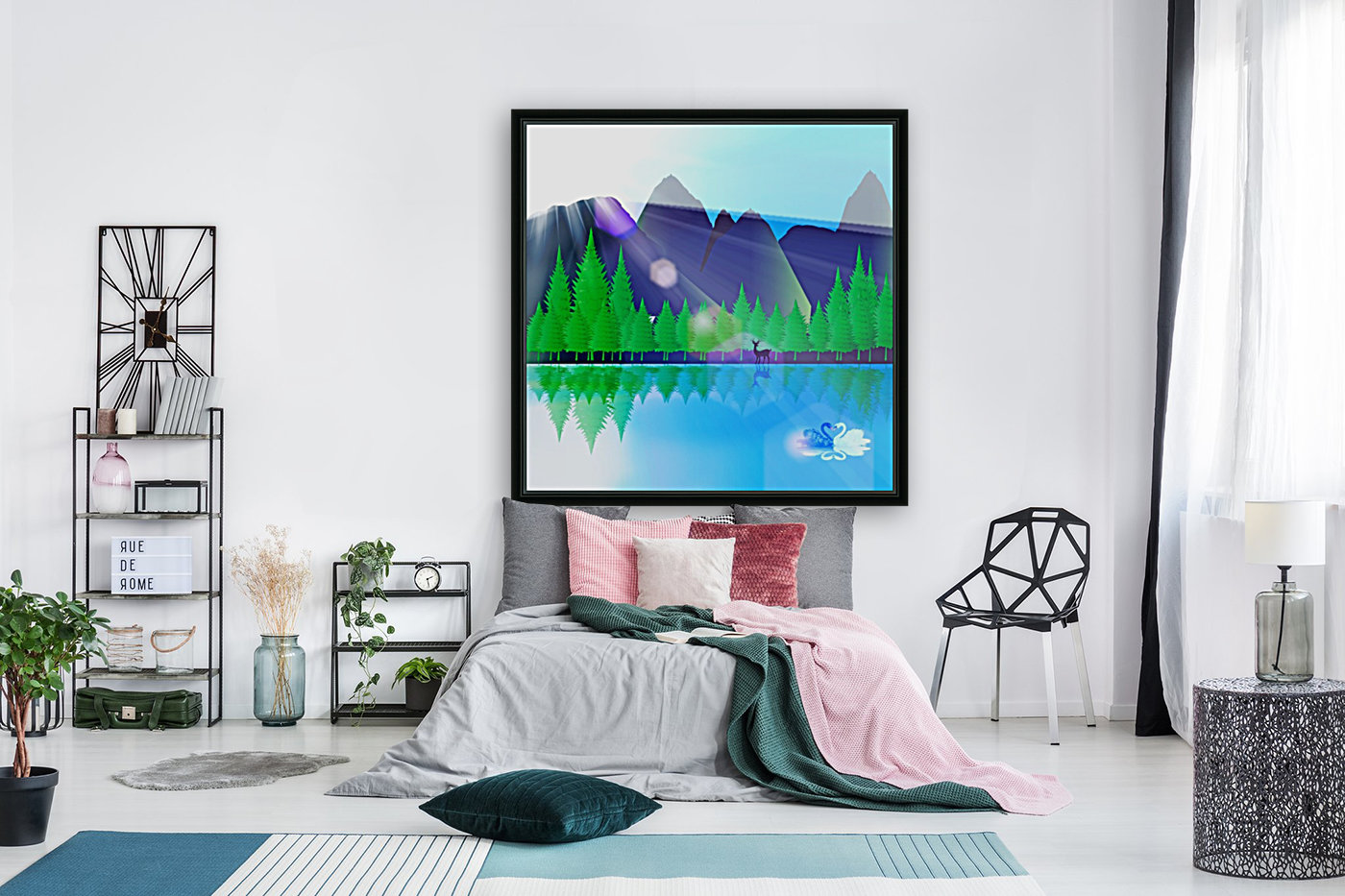 forest landscape pine trees forest  Art