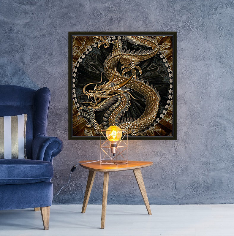 fantasy Dragon Pentagram  Art