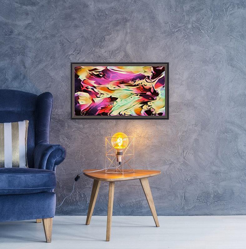 Rising Glow - multicolor swirls abstract wall art  Art