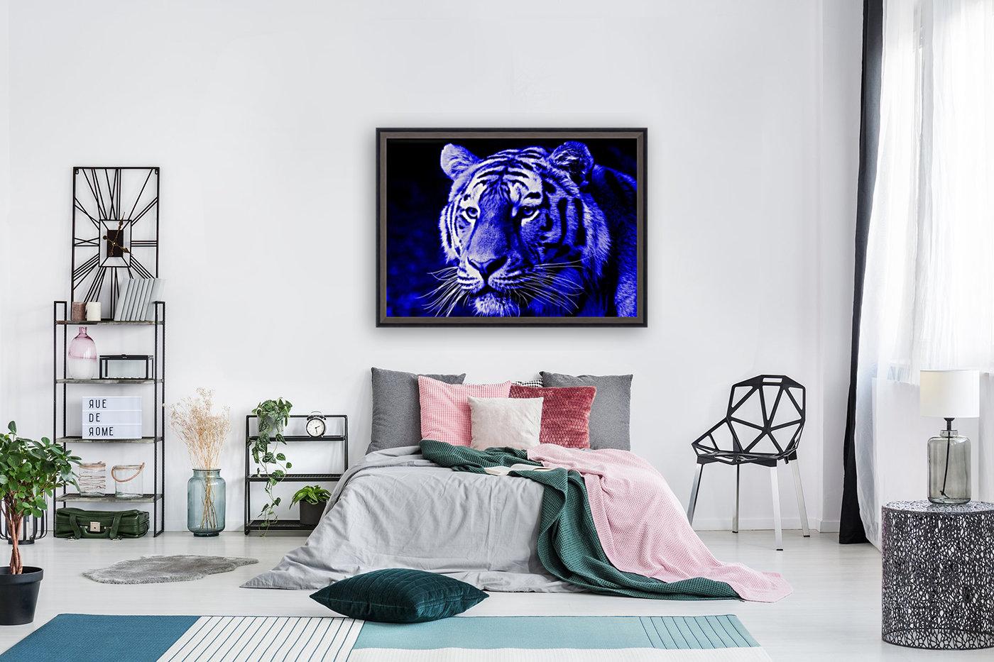 Tiger pop blue  Art