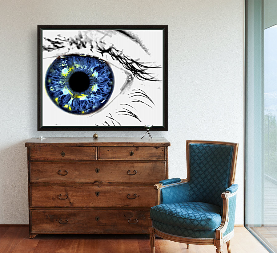 Eye Art 1 with Floating Frame