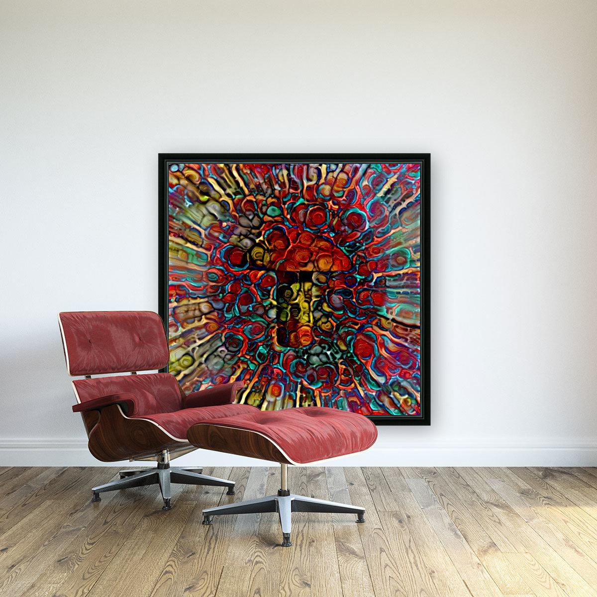 Colorful Mushroom  Art