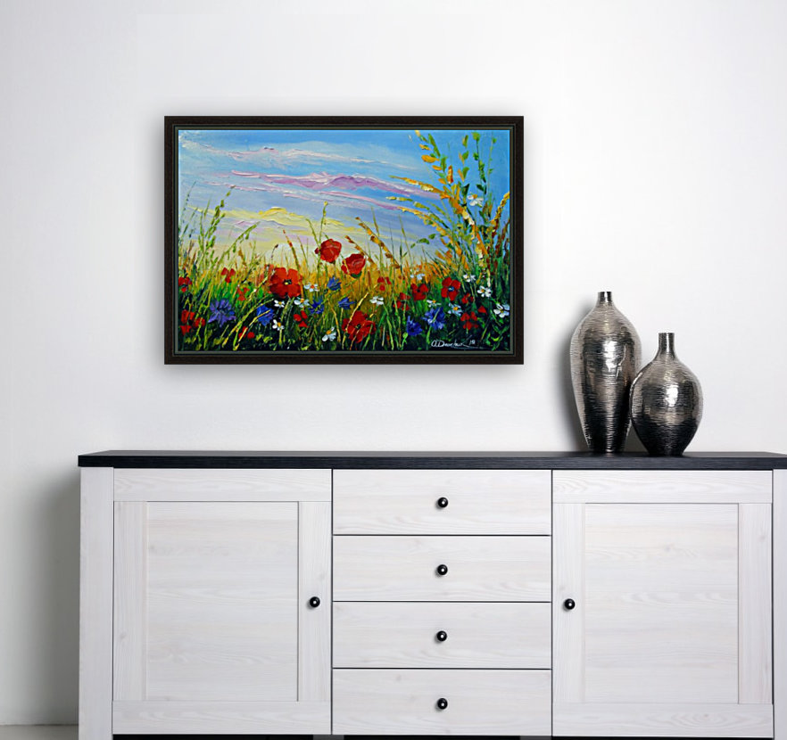 Summer flowers in the oil painting field  Art