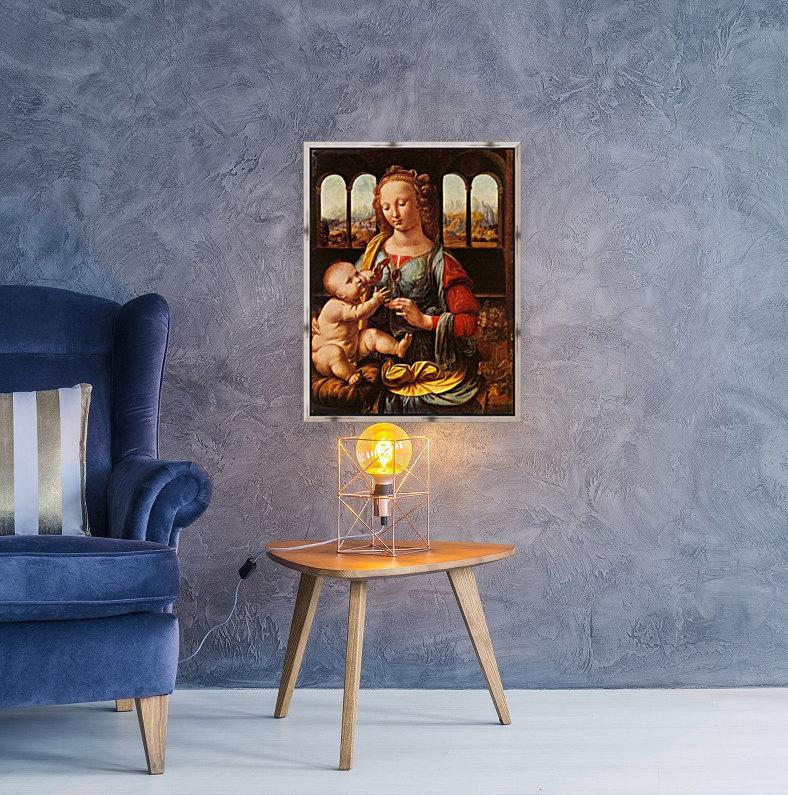 Leonardo da Vinci. The Madonna of the Carnation HD 300ppi  Art