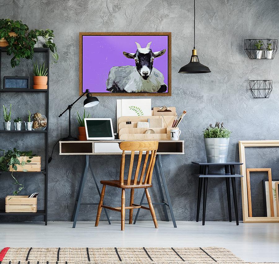 Goat popart purple  Art