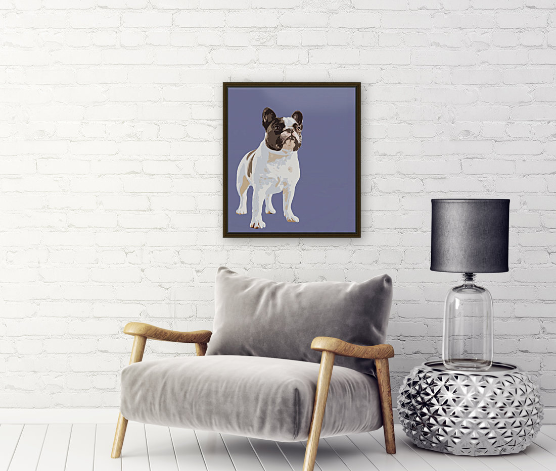 French Bulldog Pop art with Floating Frame