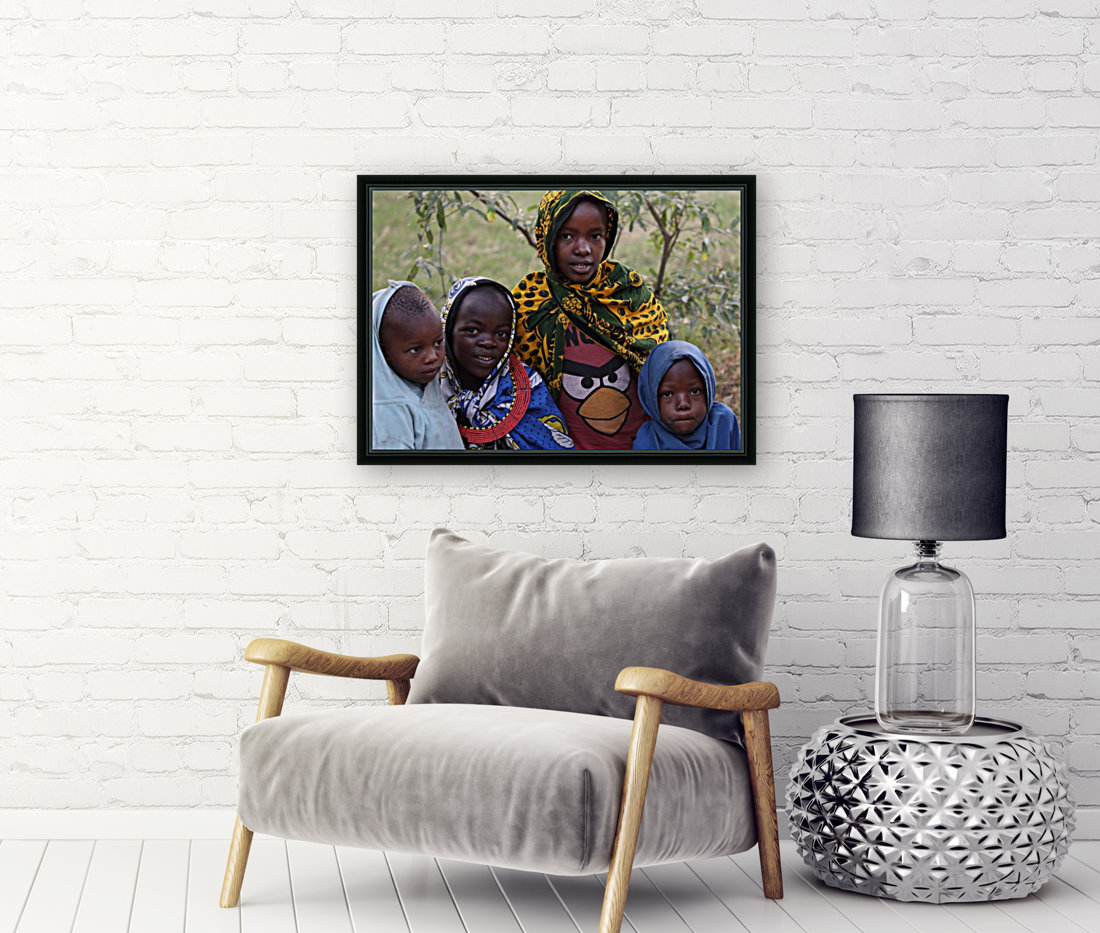 Faces of Africa with Floating Frame