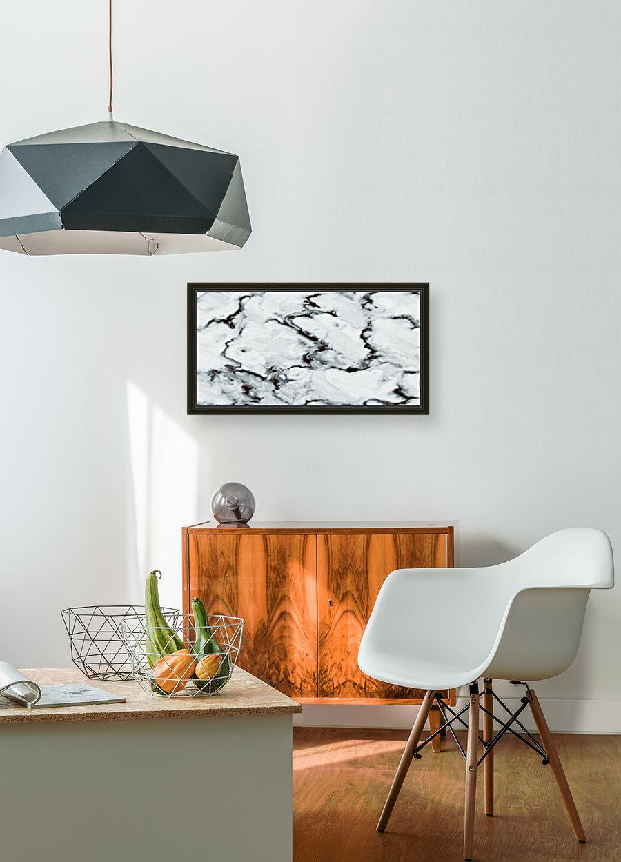 True White Marble - panoramic abstract wall art  Art