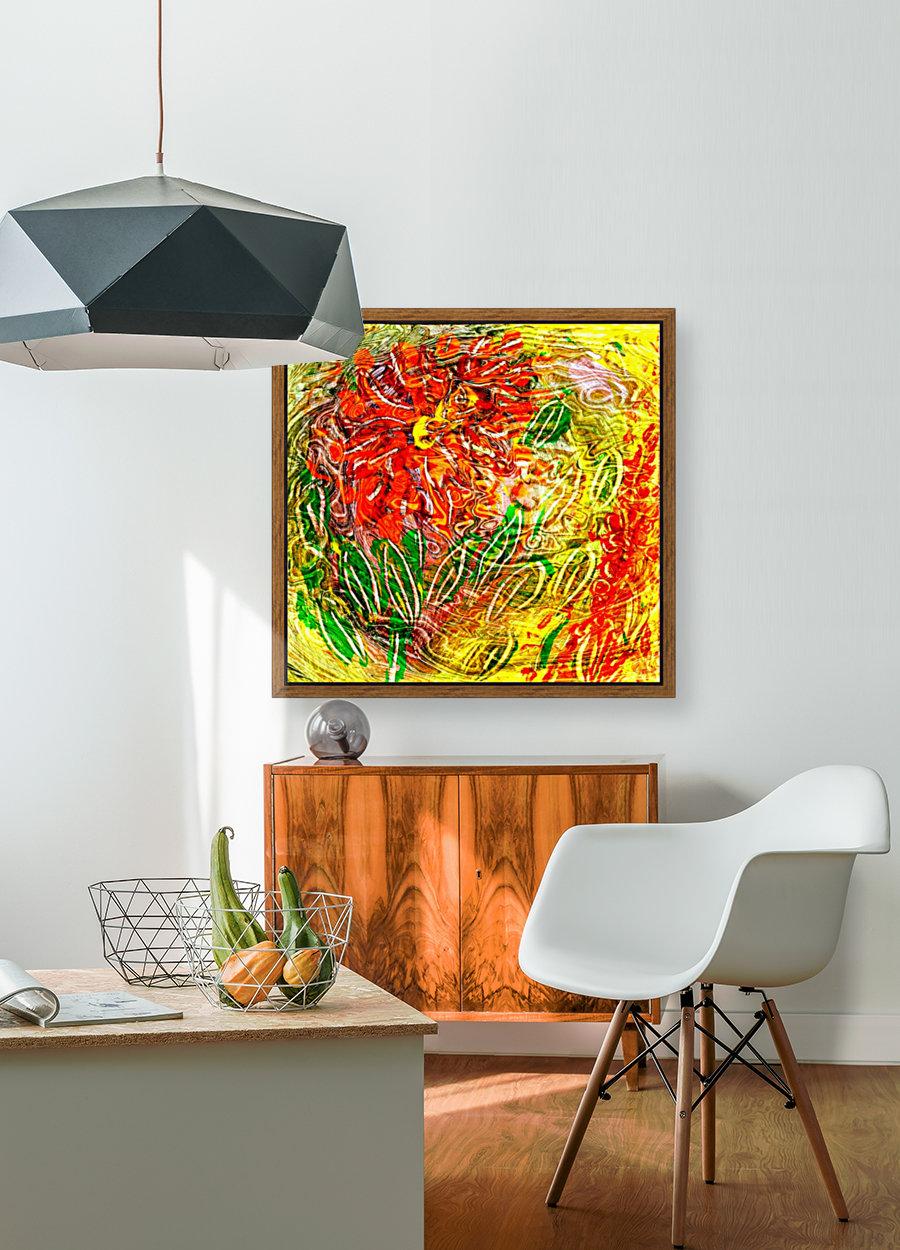 orange flower energy abstraction  Art