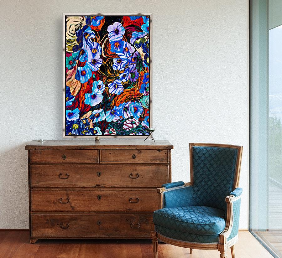 floral mottled indigo  Art