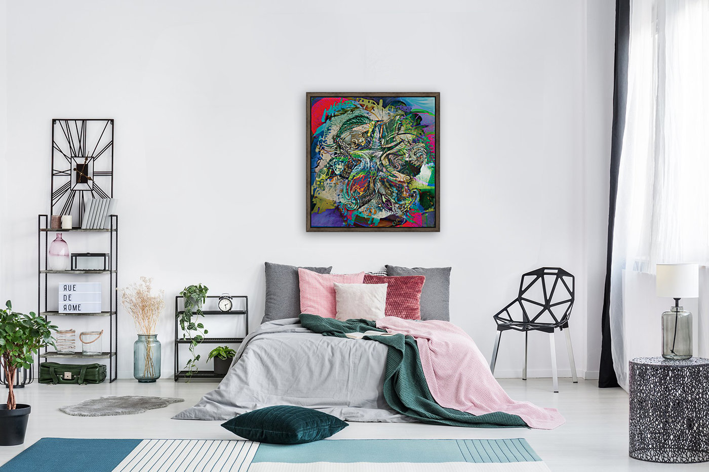 mottled multicolored abstract composition  Art