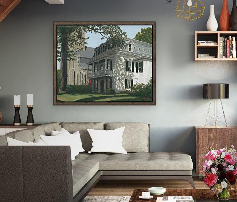 Balcony House Shadows - Newtown Scenes 16X20   Art