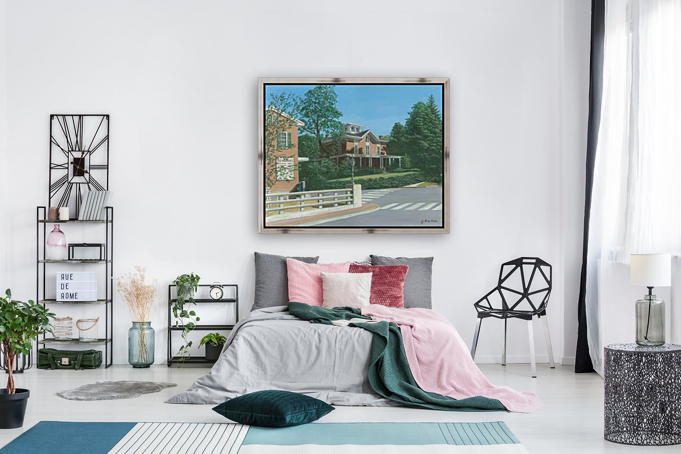 Brick House Sandy Hook - Newtown Scenes 16X20 with Floating Frame
