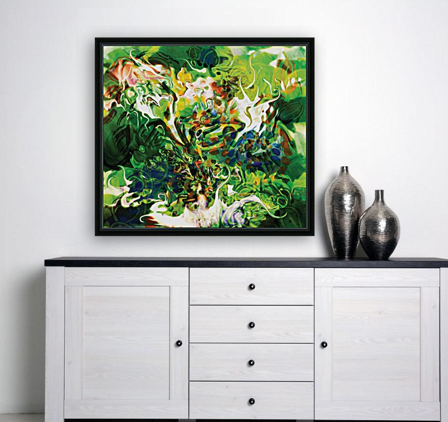 green fluid abstract  Art