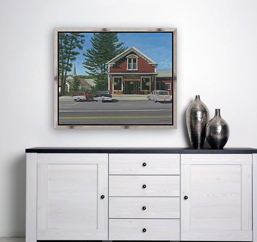 Church House and Store - Newtown Scenes 16X20  Art