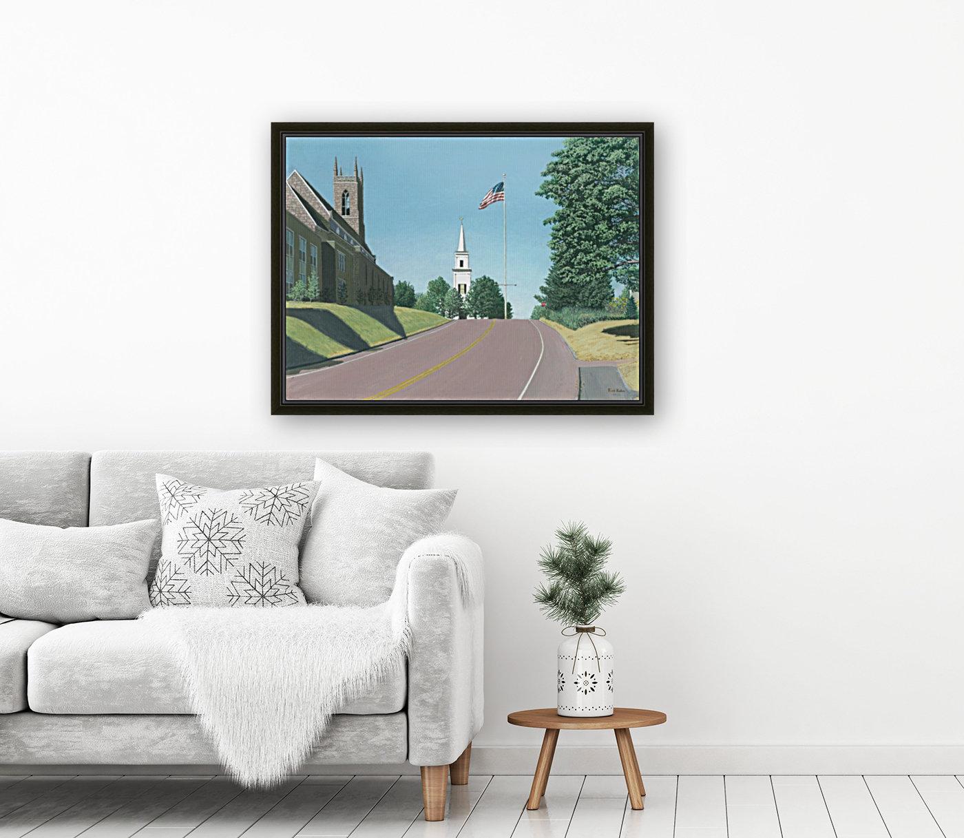 Church Hill Road - Newtown Scenes 12X16  Art