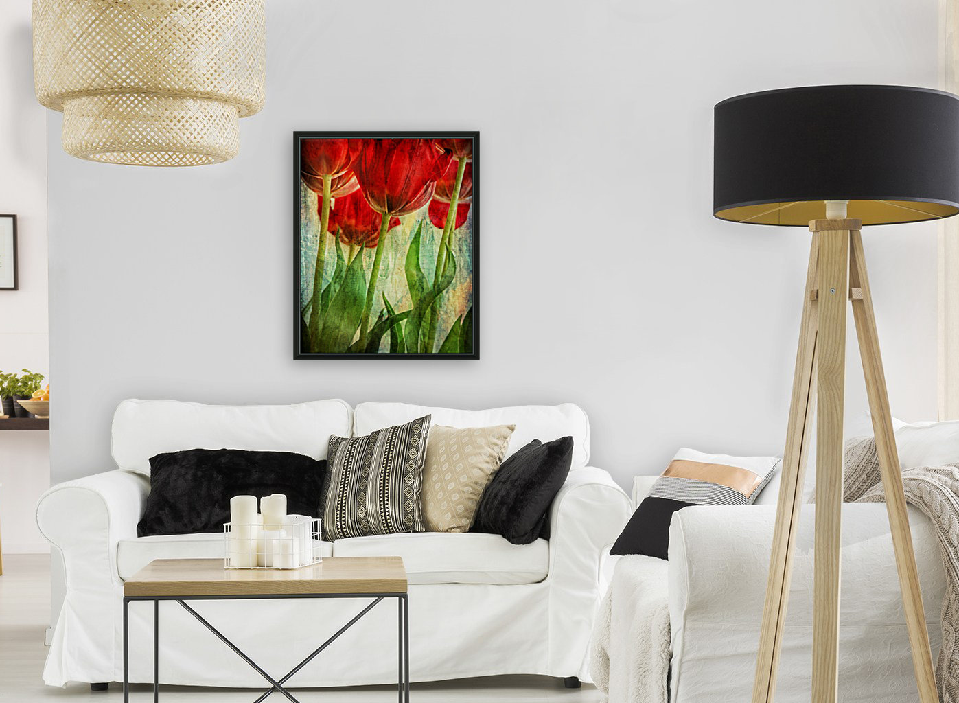 Tulips with Floating Frame