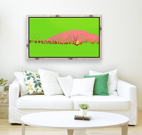 Lake Sunset - Green  Art