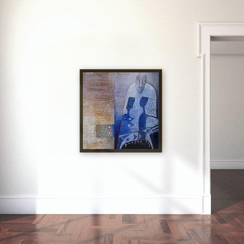 blue horserider 3  Art