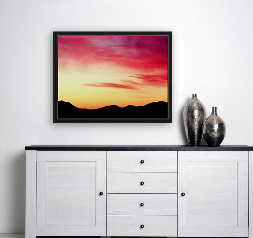 Colorful Dusk Mountain view  Art