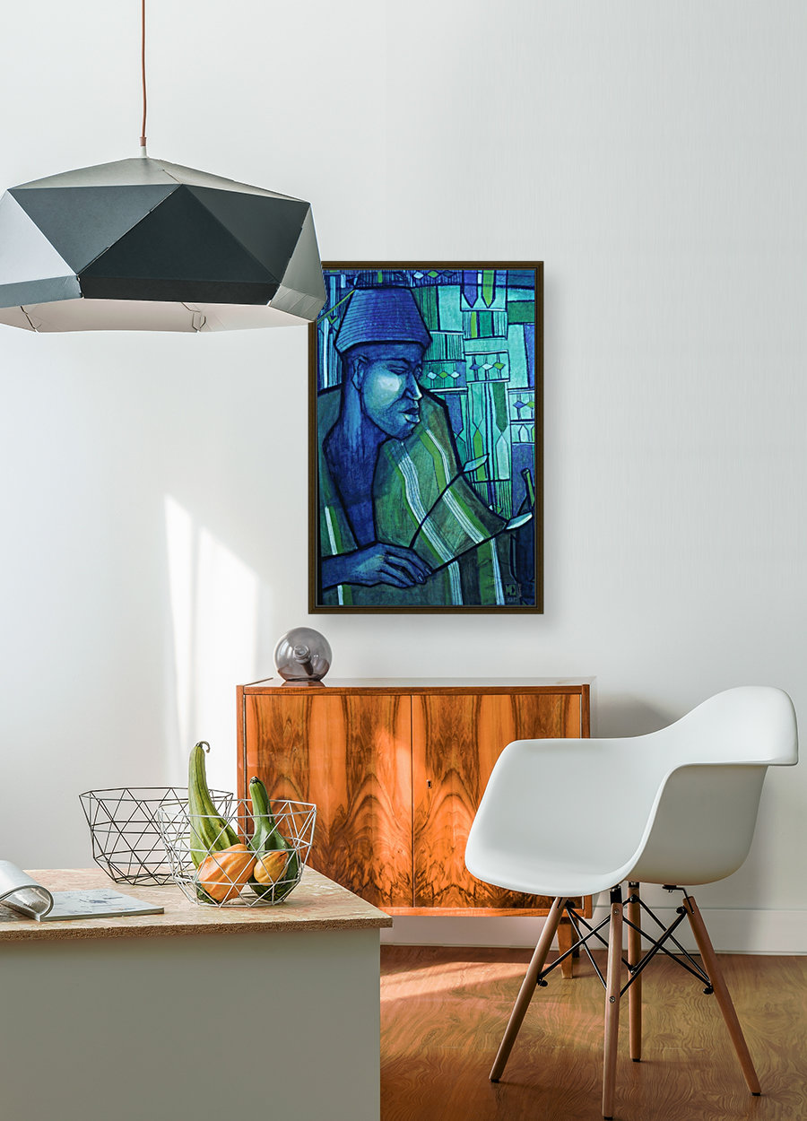 forgé de bleu with Floating Frame