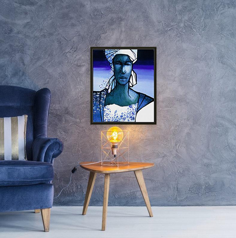 femme au turban bleu  Art