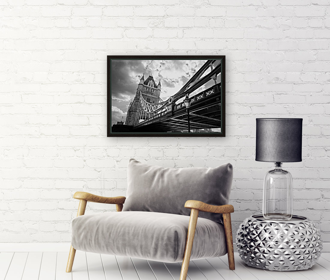 The Might of Tower Bridge Black and White  Art