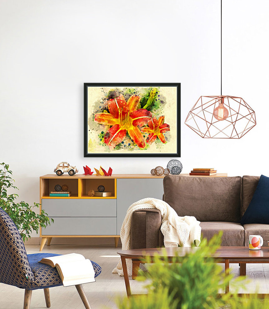Spring Flower with Floating Frame