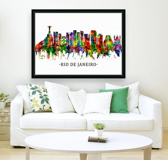 Rio de Janeiro Brazil Skyline  Art