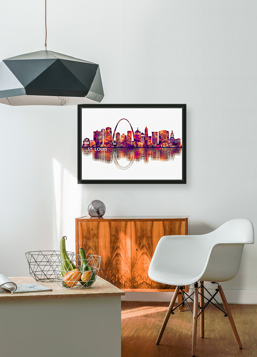 St. Louis Missouri Skyline with Floating Frame