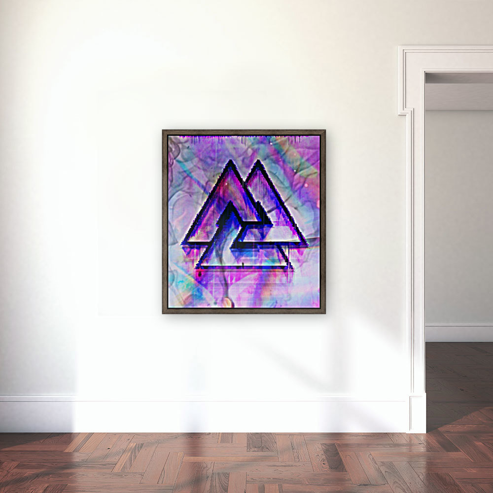 Valknut Colorful with Floating Frame