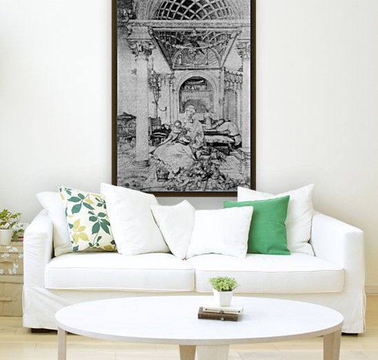 The holy family in a hall  Art