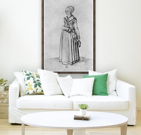 Nuremberg woman in house dress  Art