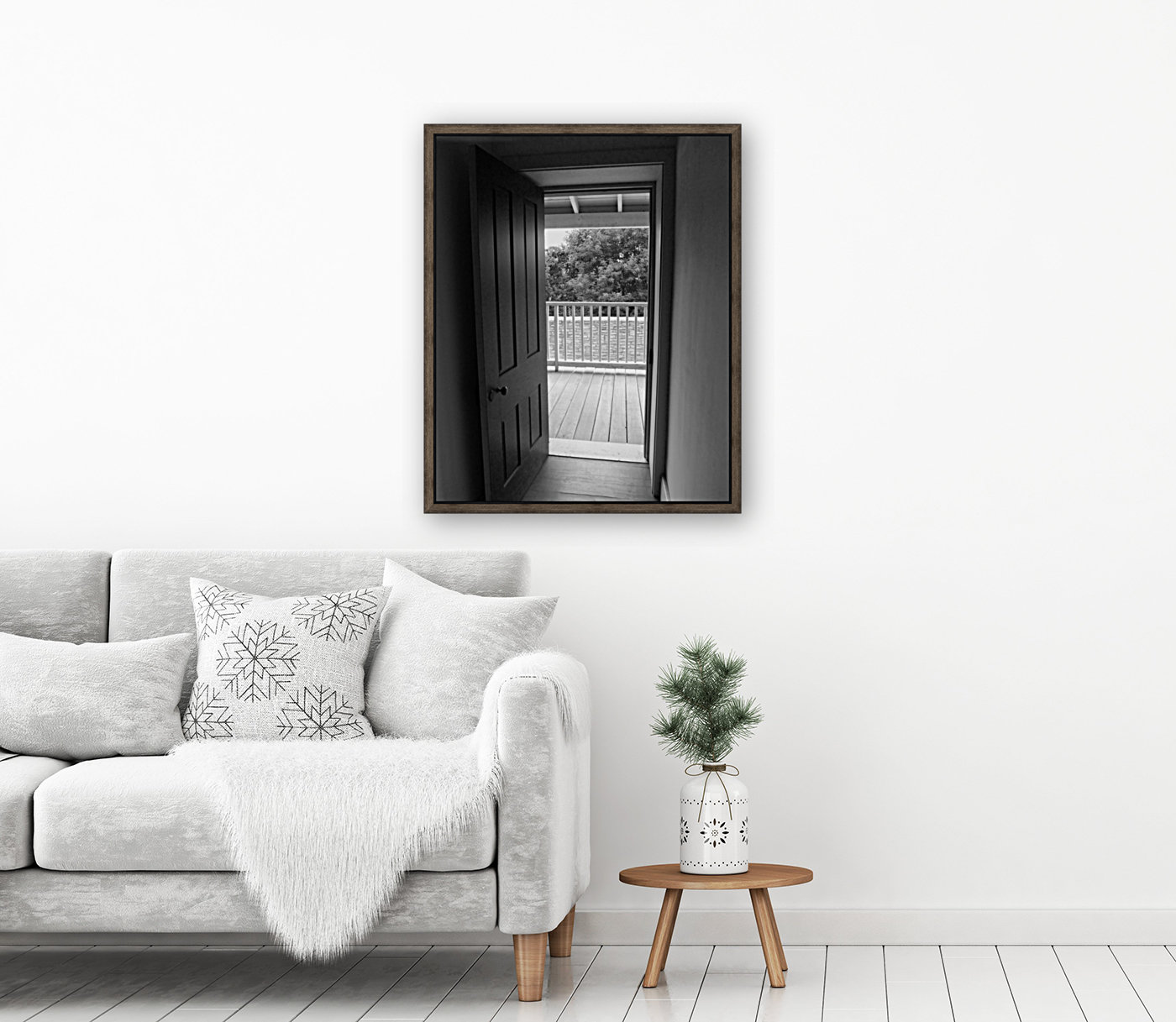 Open Door Black & White  Art